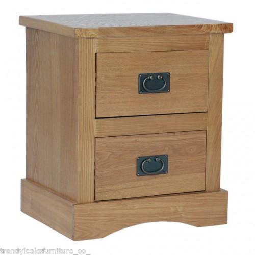 2 Drawer Bedside Cabinet Vermont