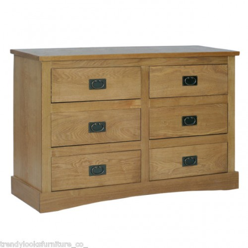 3+3 Drawer Wide Chest Vermont