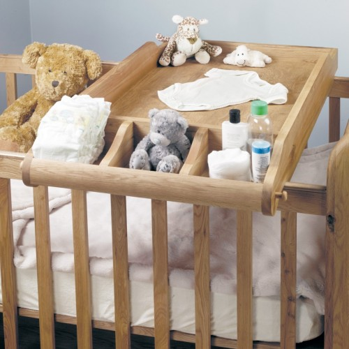 Amelie Oak Cot-Top Baby Changer