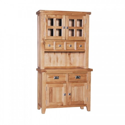 Elegance Oak Small Buffet and Hutch