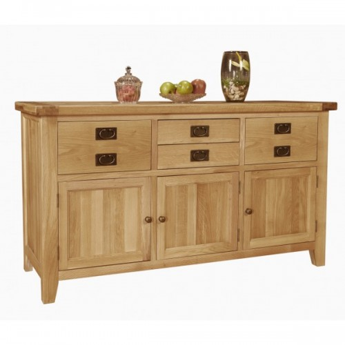 Provence Oak 3 Door Dresser Base
