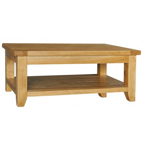 Provence Oak Rectangular Coffee Table with Shelf