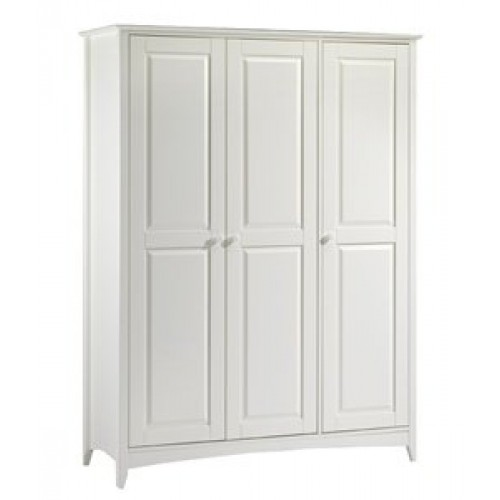 Cameo 3 Door Wardrobe Stone White Finish