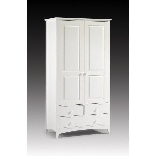 Cameo Combination Wardrobe Stone White Finish