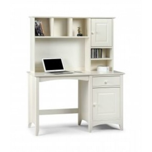 Cameo Desk Stone White Finish