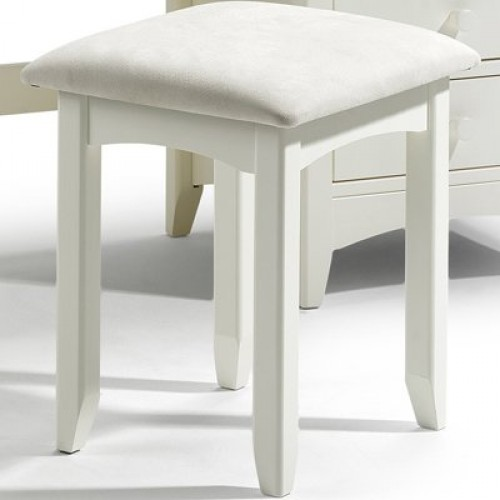 Cameo Dressing Stool Stone White Finish