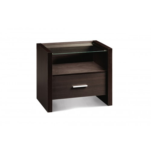 Havana 1 Drawer Bedside Wenge Finish