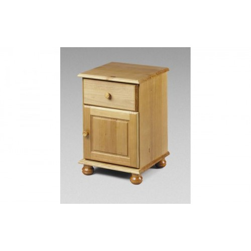 Pickwick 1 Drawer Plus 1 Door Bedside Solid Pine