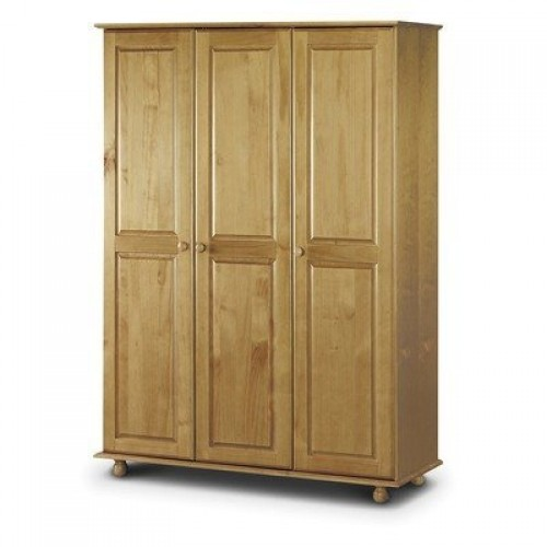 Pickwick 3 Door Wardrobe Fitted Solid Pine