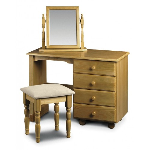 Pickwick Single Pedestal Dressing Table Solid Pine