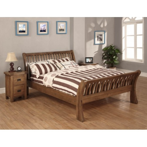 4'6 Bed Rustic Oak