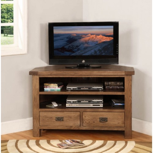 Corner TV Unit Rustic Oak