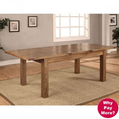 Large Extending Dining Table (180 240cm Butterfly leaf) Rustic Oak