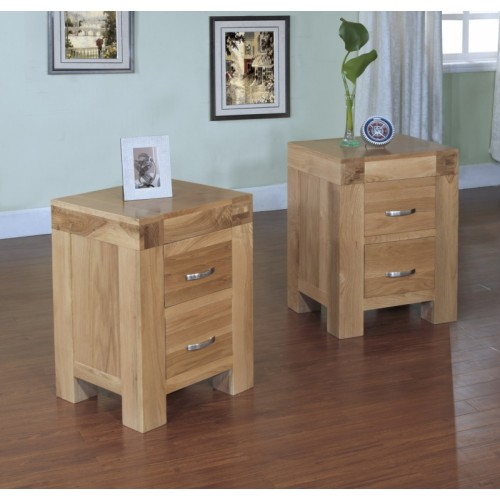 2 Drawer Bedside Cabinet Satana Blonde