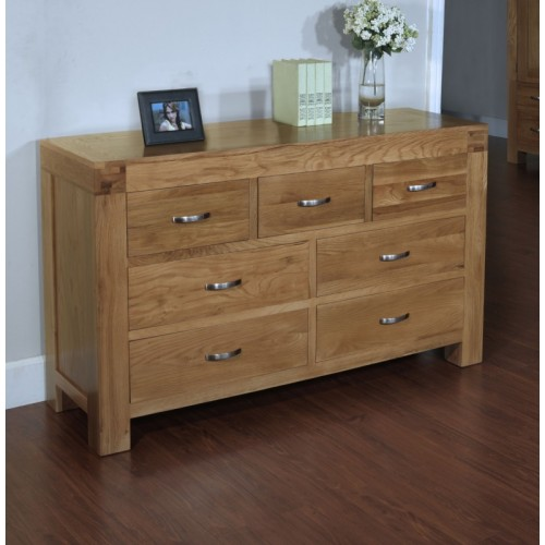 7 Drawer Chest of Drawers Satana Blonde
