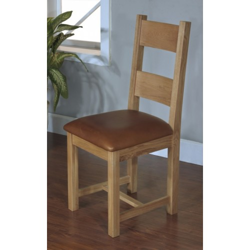 Dining Chair with leather seat pad Satana Blonde