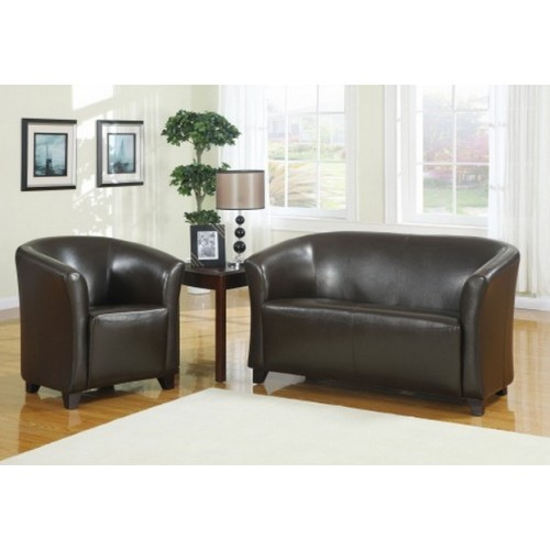 2 seater brown leather club chair (matches Seattle tub chair)