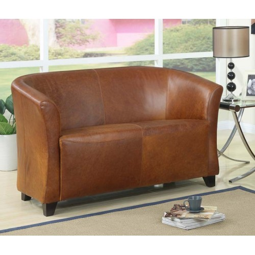 2 seater club chair in antique leather (matches Seattle tub chair)