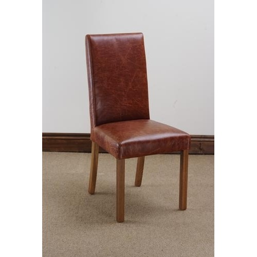 Madrid dining chair in antique leather