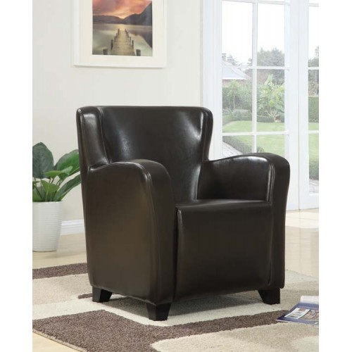 Winston arm chair in brown leather
