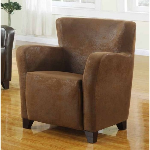 Winston arm chair rubbed through leather effect