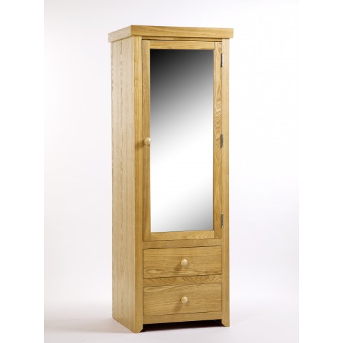 1 Mirrored Door, 2 Drawer Wardrobe Hamilton