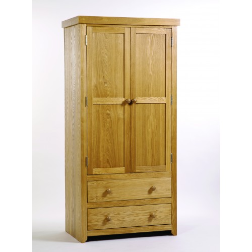 2 Door, 2 Drawer Wardrobe Hamilton