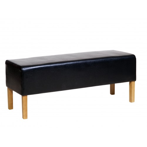 Bedseat In Black Faux Leather  Milano Upholstered