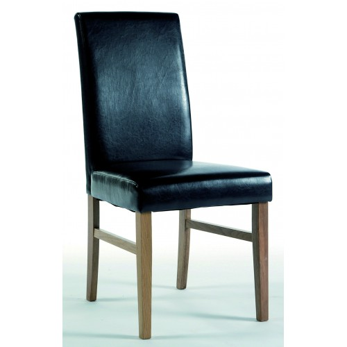 Upholstered Chair In Brown Faux Leather Hamilton