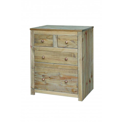 2+2 drawer chest  Hacienda Waxed Pine