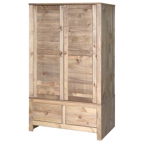 2 door,2 drawer wardrobe  Hacienda Waxed Pine