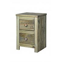 2 drawer petite bedside cabinet Hacienda Waxed Pine