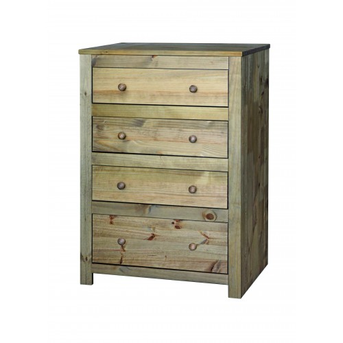 4 drawer chest  Hacienda Waxed Pine