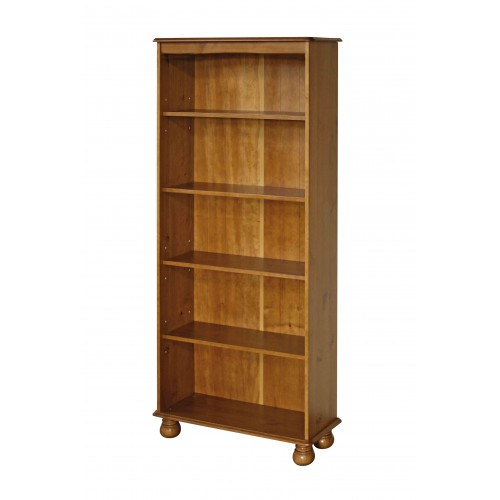 5 shelf bookcase  Dovedale Antique Pine