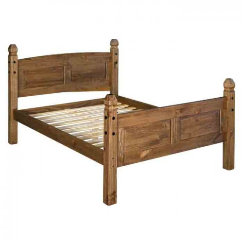 5ft high end bedstead Corona Waxed Pine