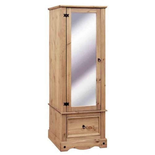 armoire with mirrored door Corona Waxed Pine