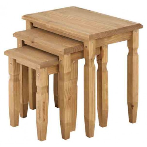 nest of tables Cotswold Solid Wood