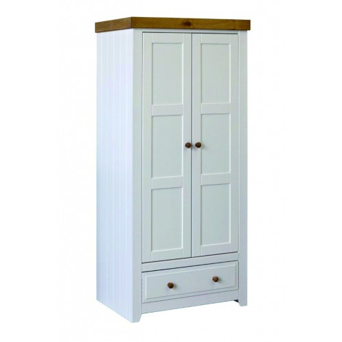 2 Door, 1 Drawer Wardrobe Capri