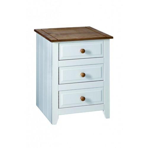 3 Drawer Bedside Cabinet Capri