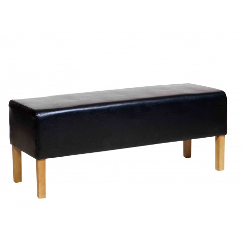 Bedseat In Black Faux Leather Milano