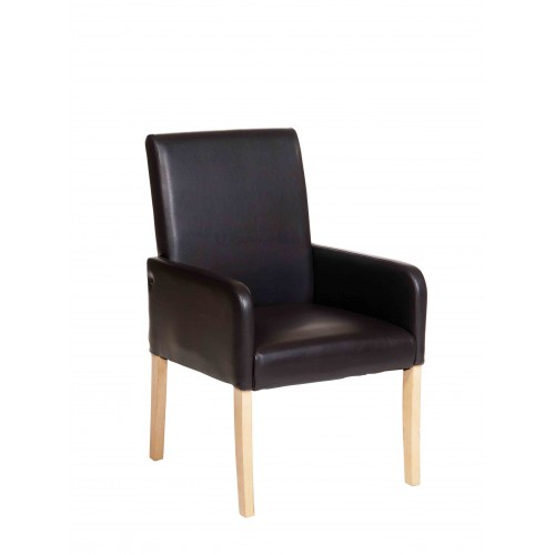 Occasional Chair In Brown Faux Leather Milano