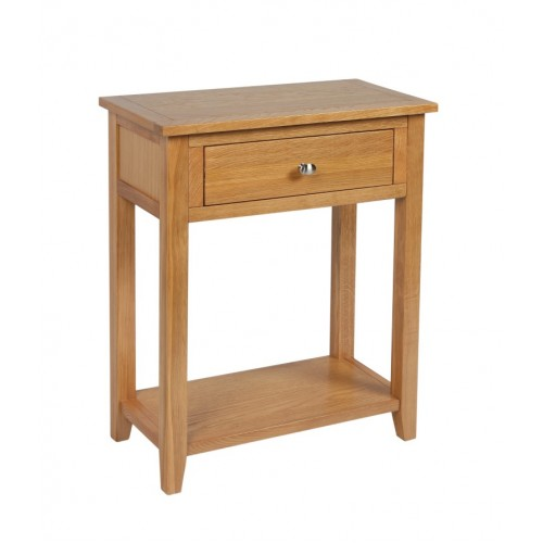 Croft Oak Console Table with 1 Drawer