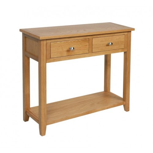 Croft Oak Console Table with 2 Drawers
