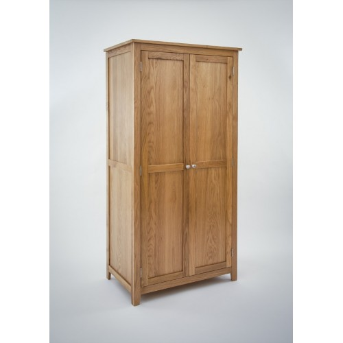 Croft Oak Double Full Hanging Wardrobe