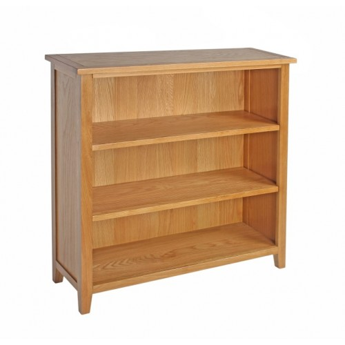 Croft Oak Low Bookcase