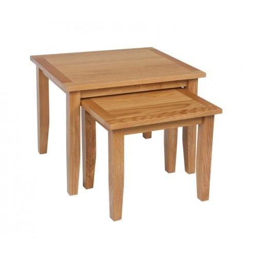Croft Oak Nest of 2 Tables