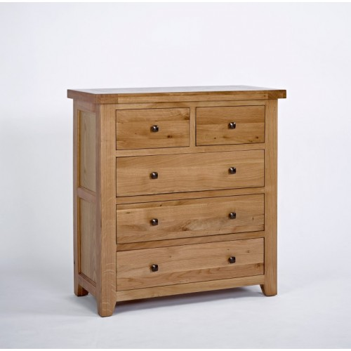 Devon Oak 2+3 Chest of Drawers