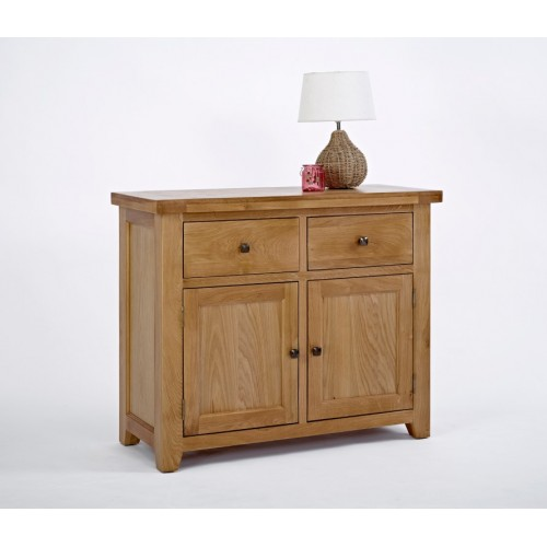 Devon Oak 2 Door 2 Drawer Sideboard