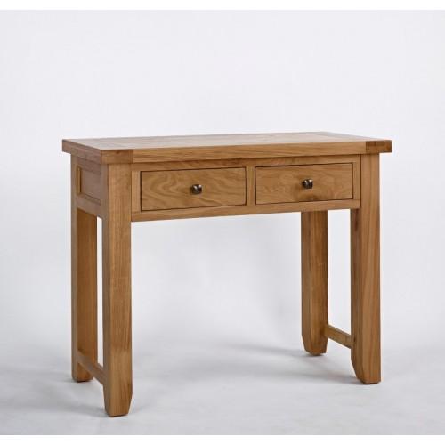 Devon Oak 2 Drawer Console Table