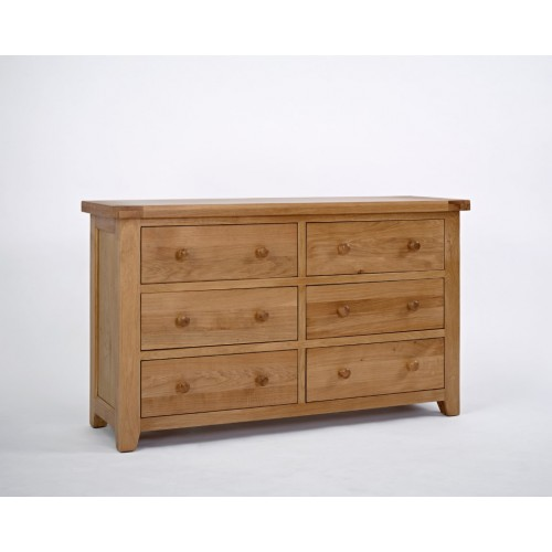 Devon Oak 3+3 Chest of Drawers